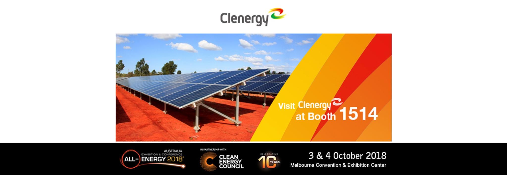 Clenergy at All Energy Australia 2018 Invitation Letter