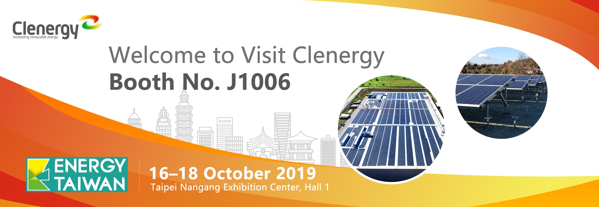 Clenergy at 2019 Energy Taiwan Invitation Letter