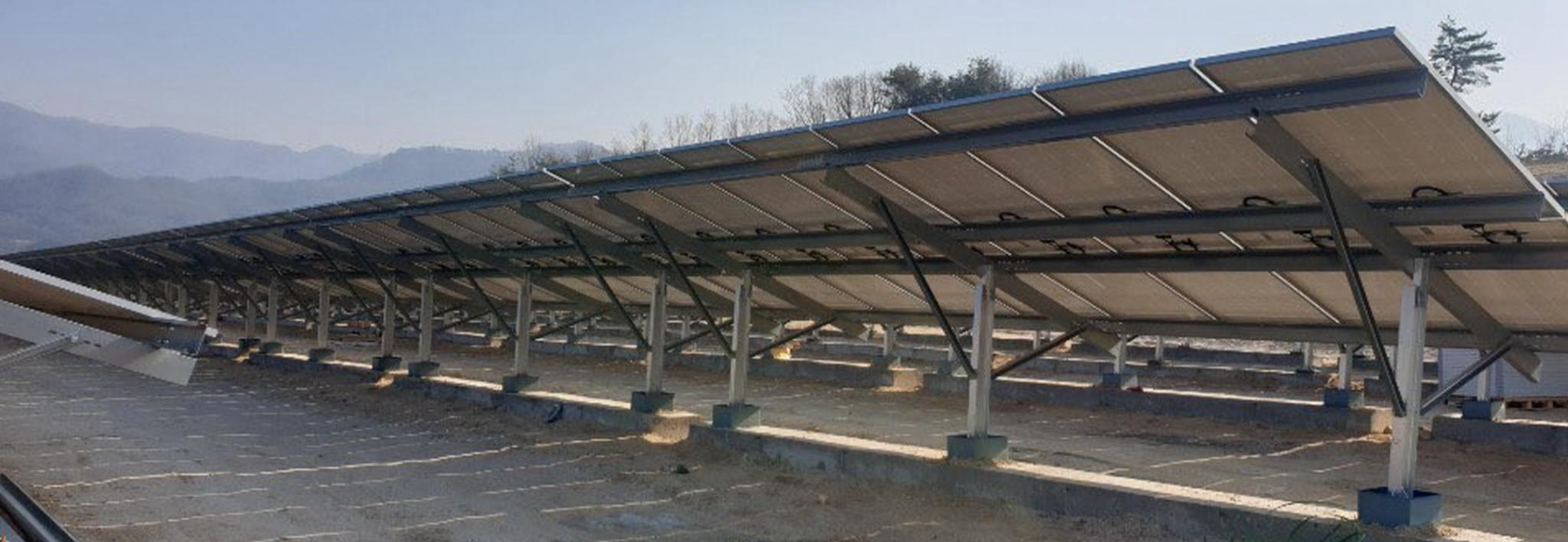 Clenergy Ground-mount PV-ezRack STMAC 1.6MW Solar Project in Korea