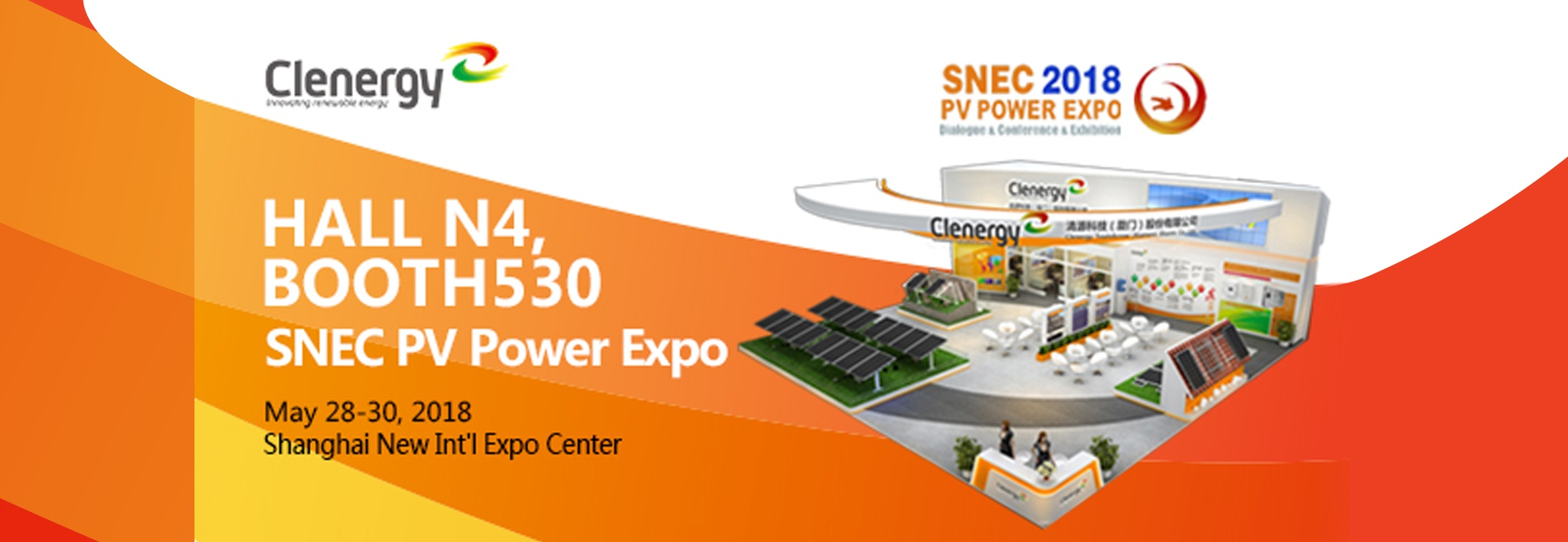 Clenergy at SNEC 2018 Invitation Letter