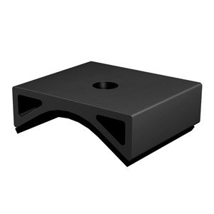 Adapter (Puck) for Corrugated Iron Roof, with EPDM, Black Anodized EZ-AD-C43 BA