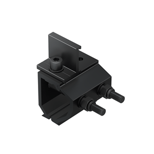 Universal Klip-lok Interface pre-assembly with Cross Connector Clamp - Black Anodized ER-I-34 CRC BA