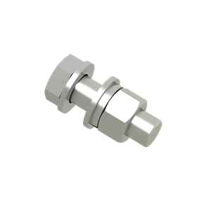 Hexagonal Bolt M1650, with nut and washer