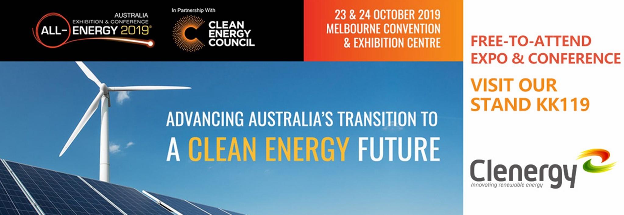 Clenergy at All-Energy Australia 2019 Invitation Letter