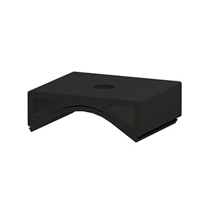 Adapter (Puck) for Corrugated Iron Roof, with EPDM, for Tin Interface ER-I-05, black anodized