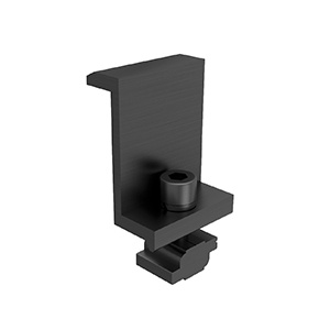 Black Anodised End Clamp = clamp + Z-Module + bolt (35mm)
